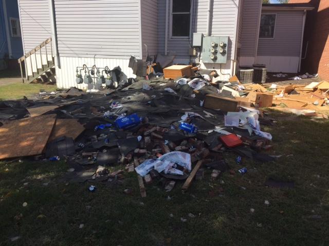 Debris removal in Piney Flat